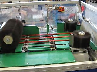 протяжной конвеер депульверы и установленные датчики оптические